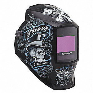 "Digital Elite Series, Auto-Darkening Welding Helmet, 5 to 13 Lens Shade, 3.82"" x 2.44"" Viewing Area"
