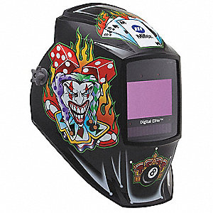 Auto Darkening Welding Helmet, Black, Digital Elite, 8 to 13 Lens Shade