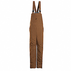Brown Bib Overalls, Outershell - EXCEL FR® ComforTouch® Flame-Resistant, 11.5 oz. Duck 88% Cotton/12