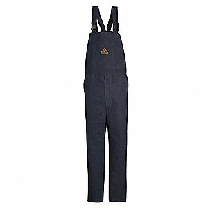 Navy Bib Overalls, EXCEL FR® ComforTouch® Flame-Resistant 11.5 oz. Duck, 88% Cotton/12% Nylon, Water