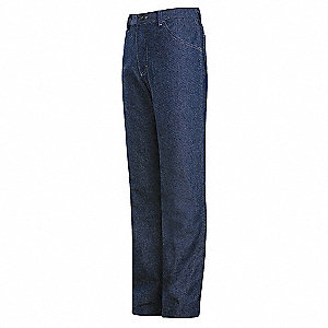 "Blue Pants, EXCEL FR® Flame-Resistant, 100% Cotton Denim, Fits Waist Size: 44"", 30"" Inseam, 18.0 cal"