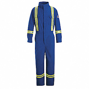 Resistant Coverall,Royal Blue,42 In