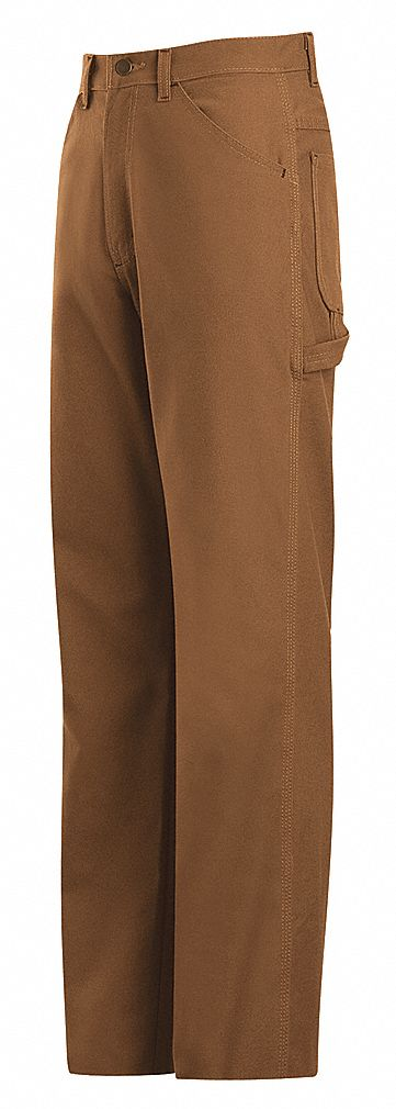 Bulwark 42 X 30 Brown Cotton Nylon Flame Resistant Dungarees With Button Closure