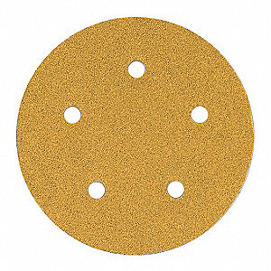 "5"" Coated Hook-and-Loop Sanding Disc, 220 Abrasive Grit, Fine Grade, Aluminum Oxide"