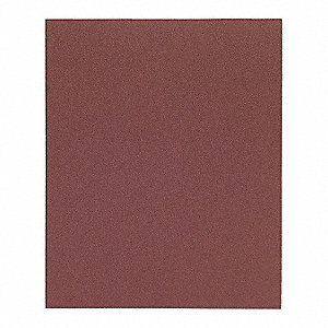 "Medium Aluminum Oxide Sanding Sheet, P180 Grit, 11"" L X 9"" W, Backing Weight : J, 50 PK"