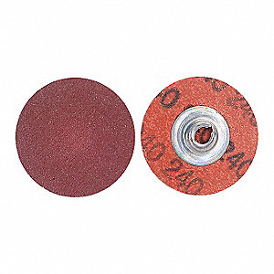 "2"" Coated Quick Change Disc, TS/TSM Turn-On/Off Type 2, 36, Extra Coarse, Aluminum Oxide, 1 EA"