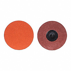 "2"" Coated Quick Change Disc, TR Roll-On/Off Type 3, 36, Extra Coarse, Ceramic, 1 EA"