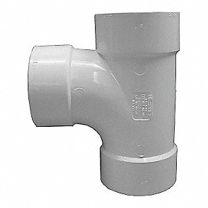Sanitary Tee,White,Hub,3 in. Pipe Size
