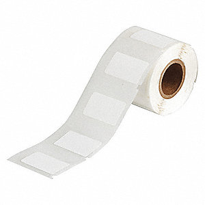 "Label, White, 1-1/4""W x 3/4"""