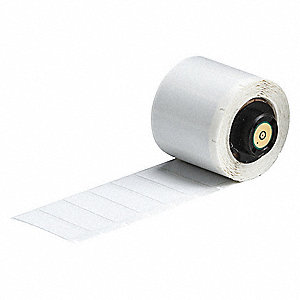 "Label, White, 1-1/2""W x 1/2"""
