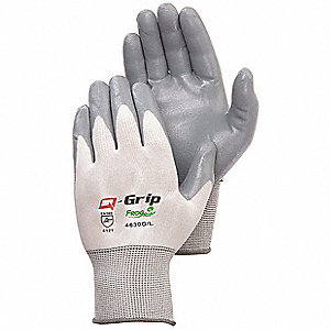 Coated Gloves,Nitrile,S,Gray,PK12