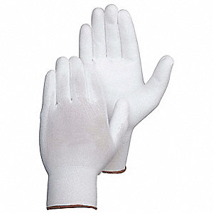 13 Gauge Coated Gloves, White