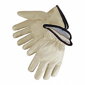 Drivers Gloves,Cowhide,M,Bige,Thrml,PK12