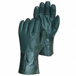Coated Gloves,Nitrile,Palm,L,Green,PK12