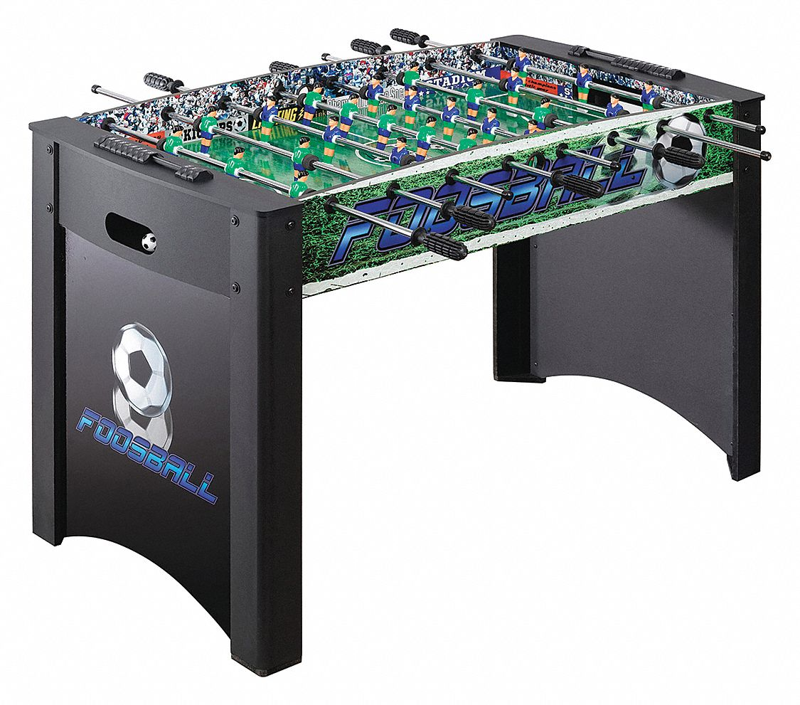 Medium-Density Fiberboard Foosball Table, 48 1/2 in Length, 32 in Height, 24 in Width