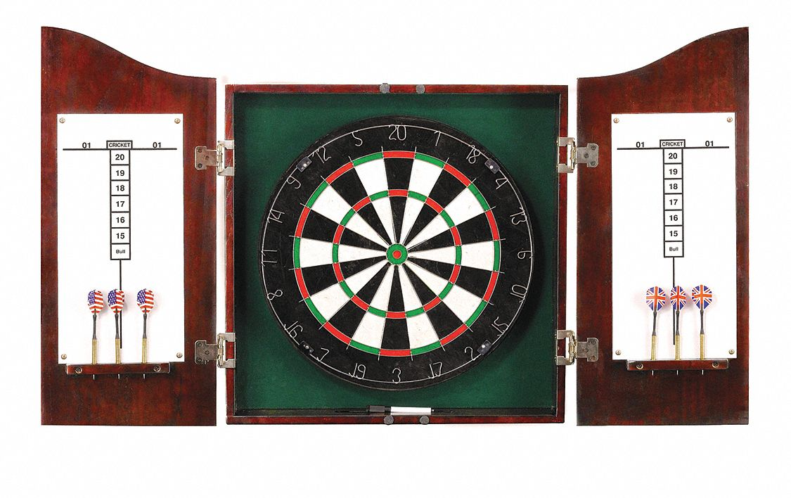 Push-Pin Dartboard, Dark Cherry