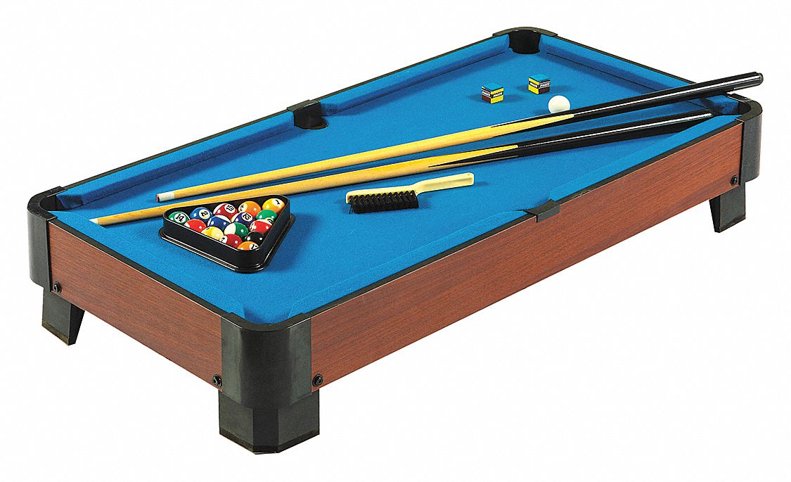 Pool Table, Tabletop, 3-1/3 ft., Black