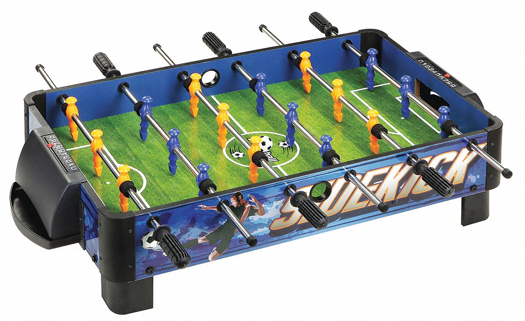 Medium-Density Fiberboard Foosball Table, 38 in Length, 9 in Height, 20 in Width