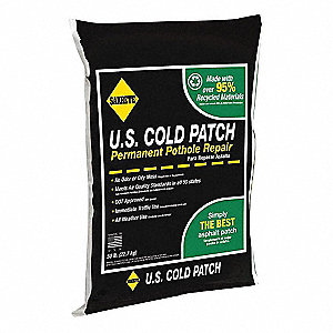 Black Cold Patch, 50 lb. Bag, Coverage: 13 sq. ft. @ 1""