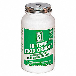 Metal-Free Food Grade Anti-Seize, -50°F to 2100°F, 16 oz., White