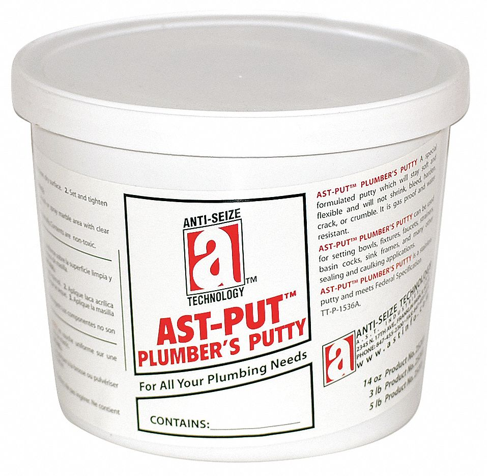 5 lb  Tub Plumbers Putty, Tan