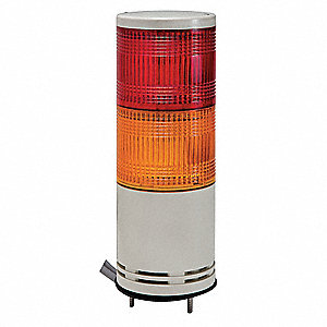 Tower Light,100mm,Red,Orange,Base Mount