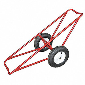 "61""L x 25""W x 19-1/2""H Red Carpet Dolly, 500 lb. Load Capacity"
