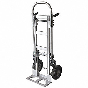 Convertible Hand Truck, Continuous Frame Dual Pin, Overall Height 53-3/8""
