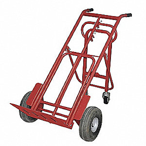 Convertible Hand Truck, Dual Grip, Overall Height 50""