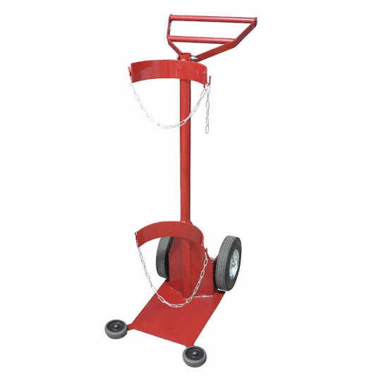 Standard Cylinder Hand Truck,  500 lb Load Capacity,  49 in x 17 1/2 in x 28 in