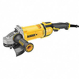 "Angle Grinder, 7"" Wheel Dia., 15 Amps, 120VAC, 8500 No Load RPM, Trigger Switch"