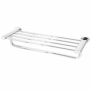 "21-3/8""L x 4-3/8""H x 7-5/8""D Polished Chrome Towel Shelf"