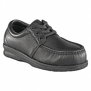 Wrk Boots,Steel,Men,12,W,Oxford,Black,PR
