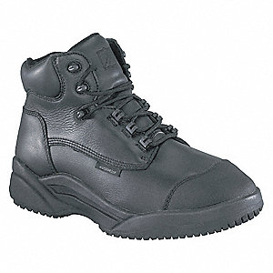 "6"" Work Boot,  10,  M,  Men's,  Black,  Plain Toe Type,  1 PR"