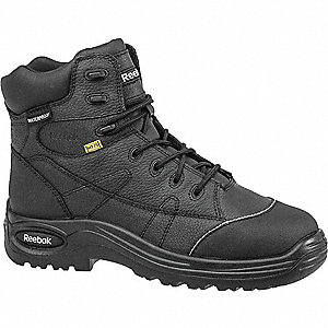 "6""H Women's Work Boots, Composite Toe Type, Leather Upper Material, Black, Size 10M"