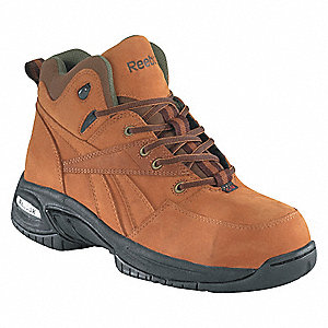 Men's Work Boots, Composite Toe Type, Leather Upper Material, Golden Tan, Size 8-1/2W