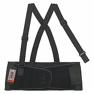 "Back Support,XL,7-1/2"" W,Black"