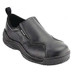 "4""H Men's Work Shoes, Composite Toe Type, Action Leather Upper Material, Black, Size 10-1/2M/W"