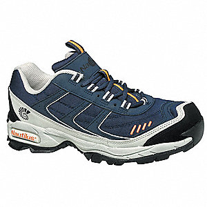 Athletic Style Work Shoes,Wmn,8M,Navy,PR