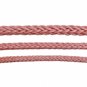"5/8"" dia. Polyolefin All Purpose Dielectric Rope, Orange, 600 ft."