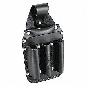 Black Tool Pouch, Leather, Fits Belts Up To (In.): 2