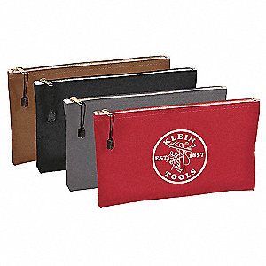 "1-Pocket Canvas Zipper Tool Bag Assortment, 7""H x 12-1/2""W x 1"""