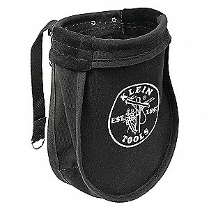 Nut/Bolt Pouch,10x3-1/2x9 In,Canvas,Blk