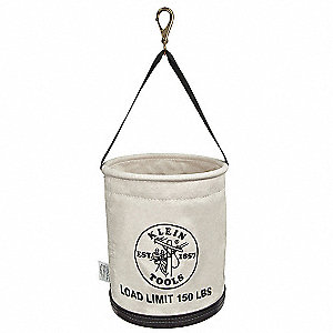 Straight Wall Work Bucket, Natural Canvas
