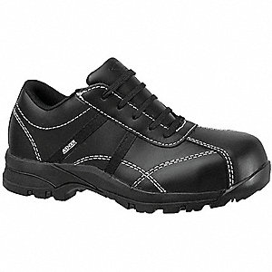 Work Shoes,Women,7-1/2W,Lace Up,Black,P
