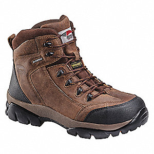 Work Boots,Men,9-1/2W,Lace Up,Brown,PR
