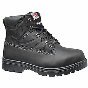 Work Boots,Men,10-1/2W,Lace Up,Black,PR