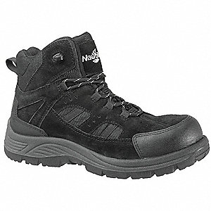 Hiking Boots,Men,11-1/2W,Lace Up,Blk,PR