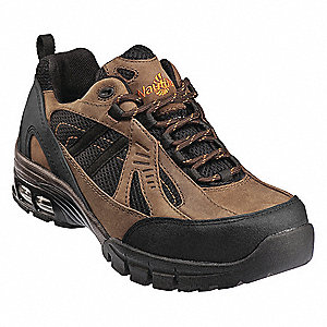 "4""H Men's Athletic Style Work Shoes, Composite Toe Type, Nubuck Leather/Mesh Upper Material, Brown/B"