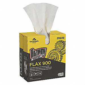 "Brawny® Professional Flax Disposable Wipes, 72 Ct. 9"" x 16-1/2"" Sheets, White"